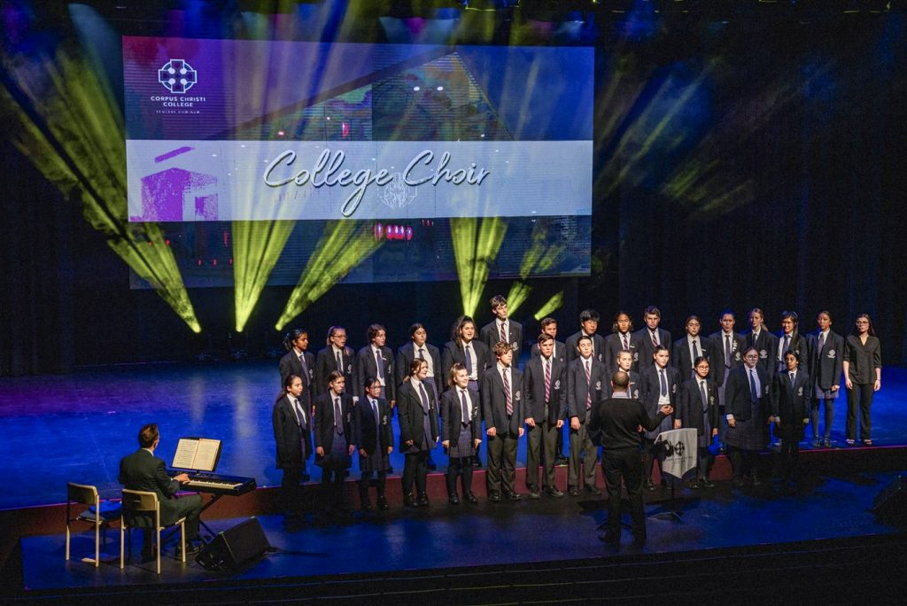 The College Choir performs during the opening ceremony on Tuesday 27 August. Photo: Supplied.