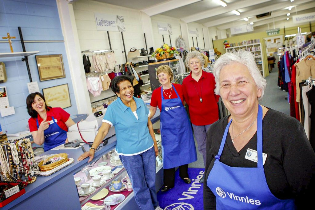St Vincent de Paul stores are the familiar face of the Society in Australia. Photo: Supplied.