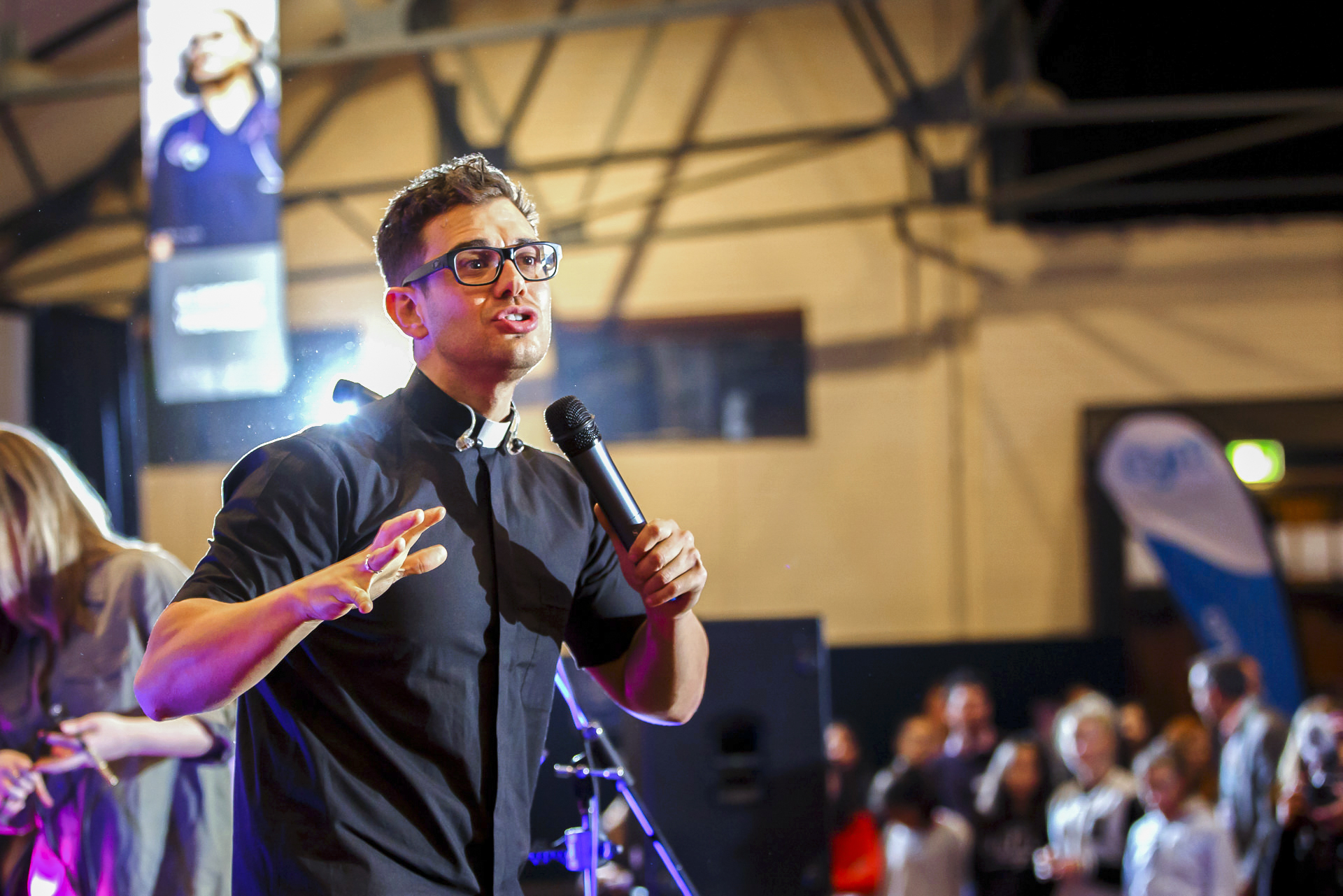 A new theme song has been released ahead of the 2019 Australian Catholic Youth Festival. The new song and video clip has been created by Sandhurst priest and international musician Fr Rob Galea. Photo: Iceberg Media.