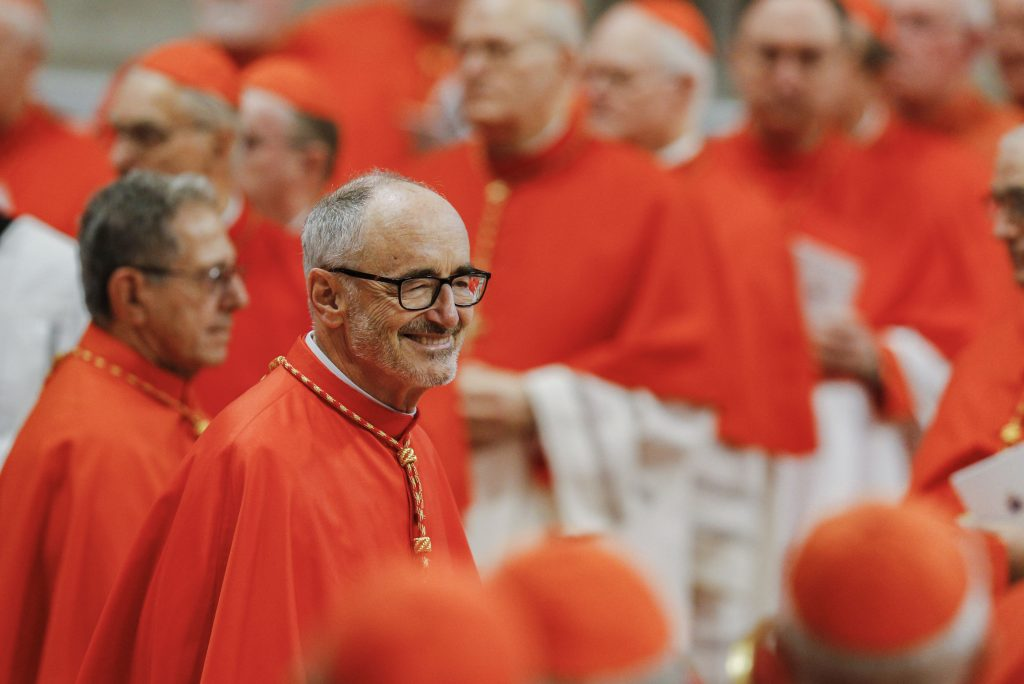 New Canadian Cardinal Michael Czerny arrives for a consistory led by Pope Francis for the creation of 13 new cardinals in St. Peter's Basilica at the Vatican on 5 October 2019. Photo: Paul Haring/CNS.