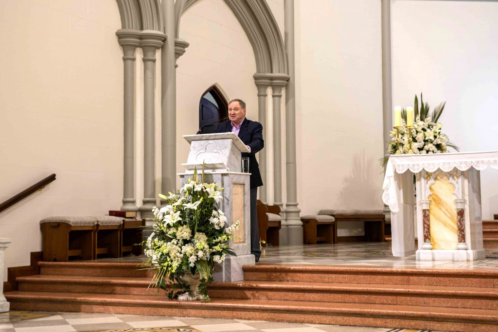 Mr Alan Ames stresses humility, obedience and genuine veneration of the Sacraments as the path to true healing. Photo: Eric Martin.