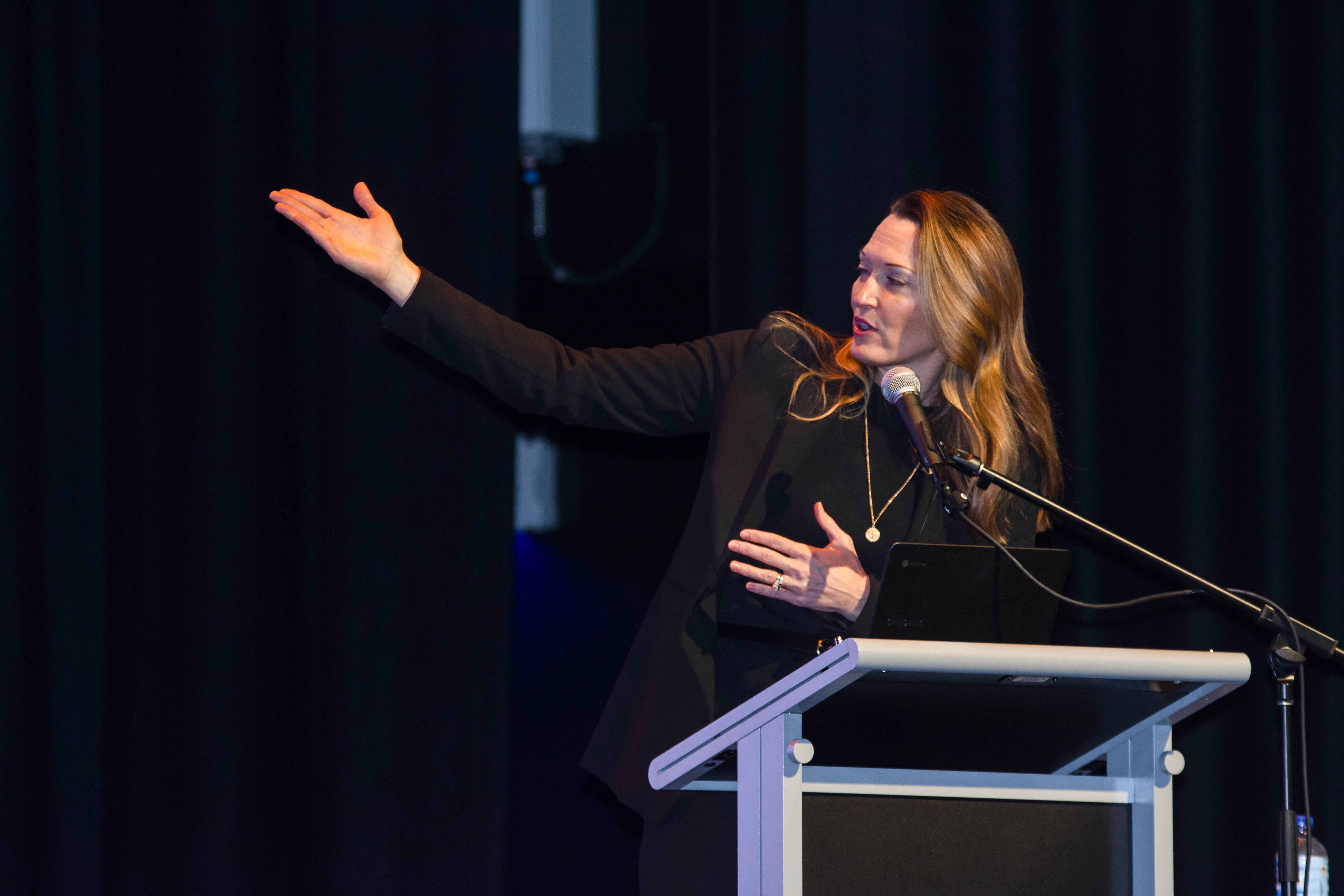 Stacey Trasancos spoke on the topic Particles of Faith at the Why Be Catholic conference held from Thursday 17 to Saturday 19 October at the Corpus Christi College in Bateman. Photo: Amanda Murthy.