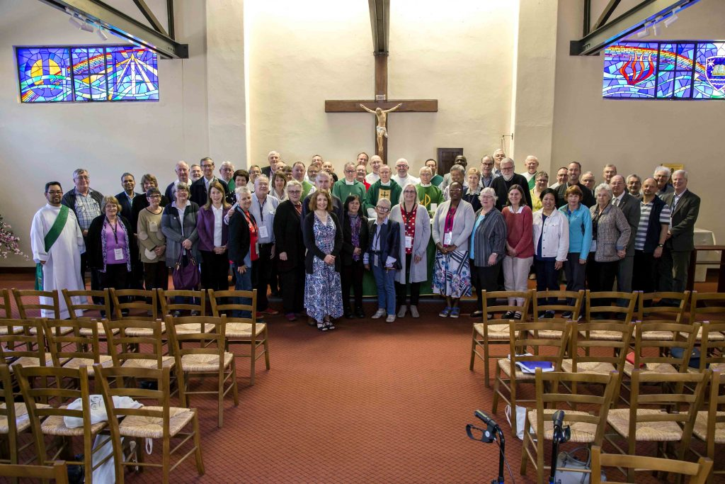 Priests, deacons, candidates, aspirants and wives at the 2019 National Association of Deacons Conference Mass on 6 October at Holy Spirit Chapel, UNDA. Photo: Jamie O'Brien.