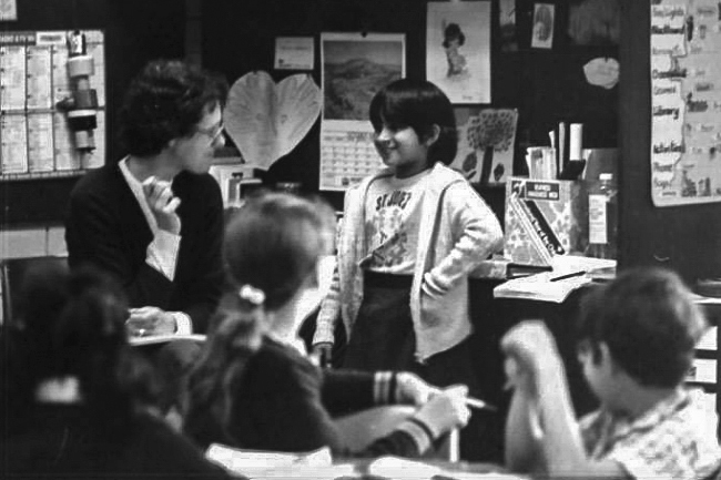 Current Education Assistant Jacqueline Edwards, pictured during her pupil days at St Jude's Langford in 1980. Photo: Supplied.