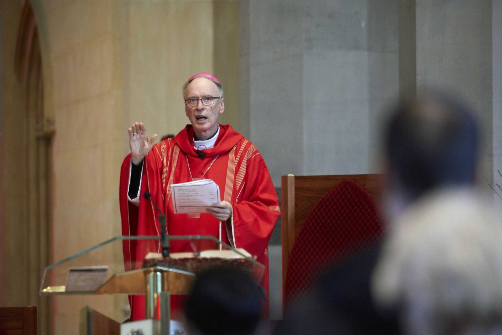 Perth Auxiliary Bishop Donald Sproxton celebrated a Mass following the biennial Catholic Schools Board Chair Conference at St Mary's Cathedral on 20 September. Photo: Jesse Roberts.
