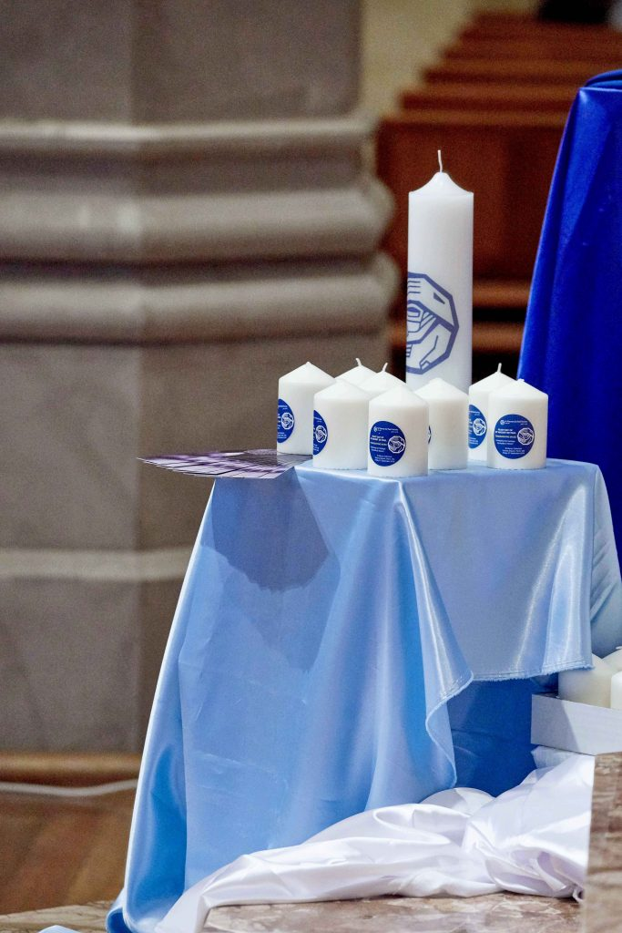The memorial candles presented to CEO Susan Rooney and Regional Presidents on behalf of the Society. Photo: Ron Tan.