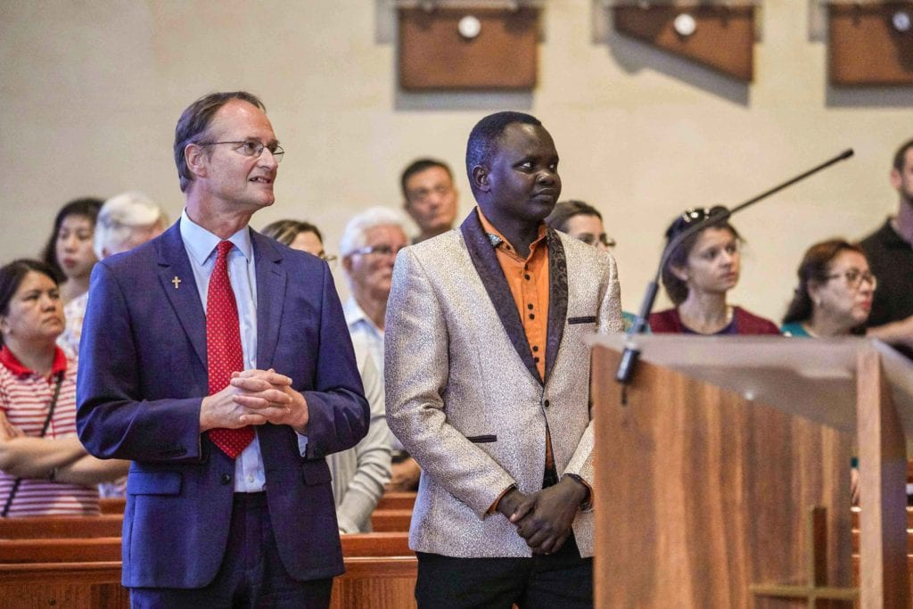WACMRO Director Deacon Gregory Lowe urged the Catholic community to embrace and dialogue on the topic of cultural differences, rather than fear it at the Cultural Diversity Mass on 26 October at St Marys Cathedral. Photo: Ron Tan.