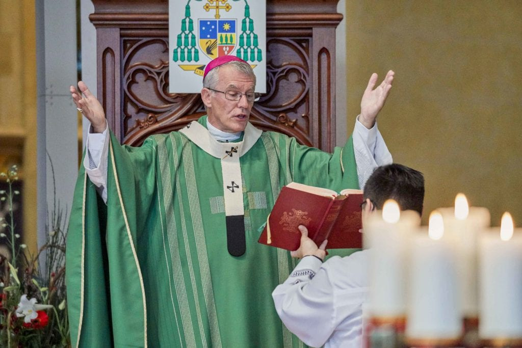 Perth Archbishop Timothy Costelloe SDB celebrated the Cultural Diversity Mass on 26 October at St Marys Cathedral. Photo: Ron Tan.