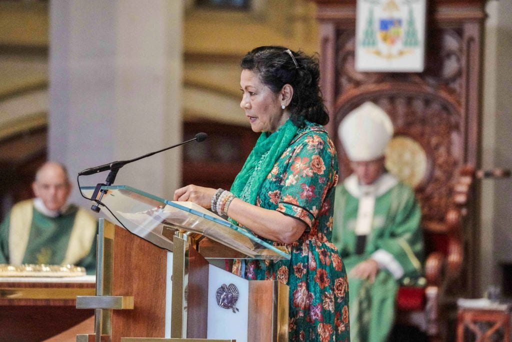 The congregation dressed in their traditional wear at the Cultural Diversity Mass on 26 October at St Marys Cathedral. Photo: Ron Tan.
