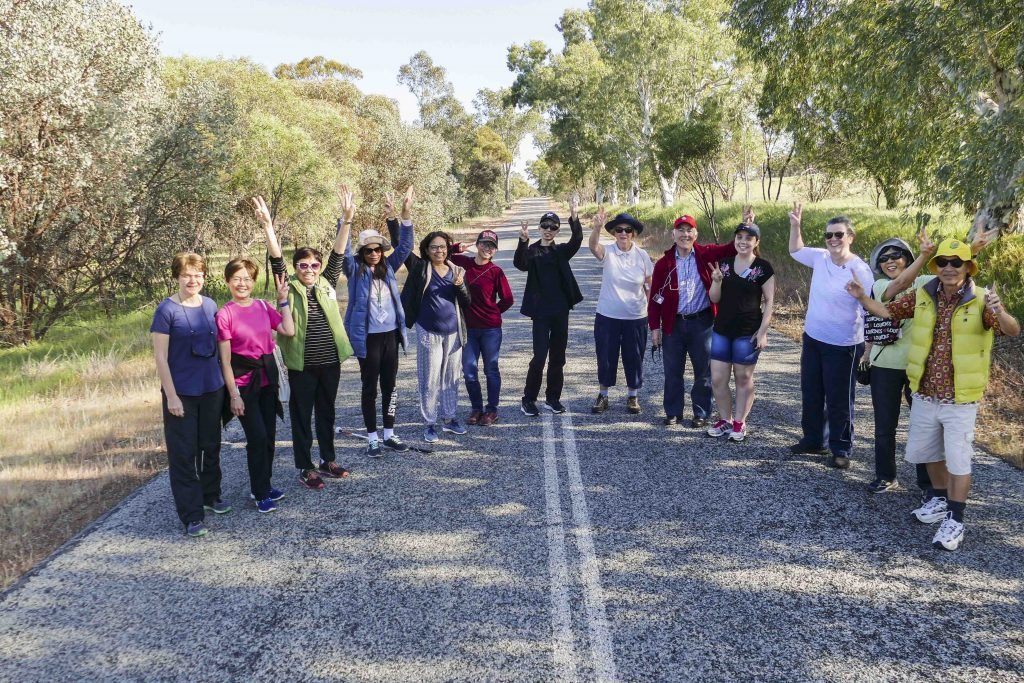Participating in group activities, like walking together through the hills of Northam, brings the participants of the Mariapolis closer together. Photo: Supplied.